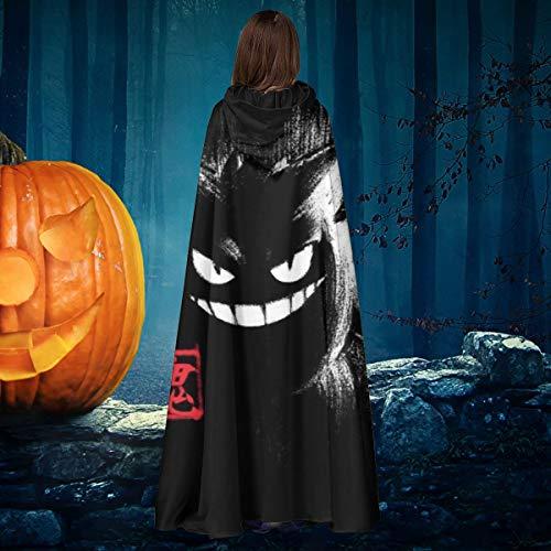 AISFGBJ Monster of The Pocket Gengar Ink Unisex Weihnachten Halloween Hexe Ritter Kapuzenmantel Vampir Umhang Umhang Cosplay Kostüm
