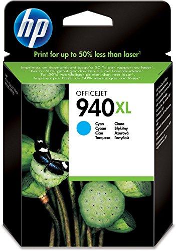 HP 940XL (C4907AE) Cyan Original Druckerpatrone mit hoher Reichweite für HP Officejet Pro 8500, HP Officejet Pro 8500A, HP Officejet Pro 8000
