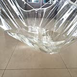 QMMD Transparentes Lonas de toldos, a Prueba de Lluvia Gruesa Tela de PVC Blando de plástico al Aire Libre Lluvia Ventana Parabrisas Refugio Cortina Impermeable Balcón,0.5mm+1m*1.5m