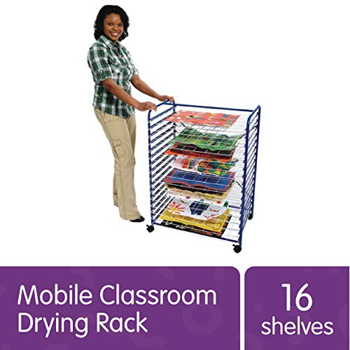 Colorations Mobile Art Drying Rack Sturdy Lightweight 36 1/2'H x 26 1/2'W x 17 1/2'D (Item # MOBRACK)