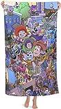Toalla de playa de Toy Story Woody, de Buzz Lightyear con dibujos animados, portátil,...