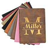Custom Personalized Passport Holder Case Cover - Monogrammed Travel Gifts - Engraved