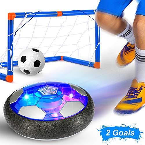 GEYUEYA Home Air Power Fußball Set, USB Hover Power Ball Indoor Football Fussball Spielzeug Schweben Sie Fußball mit Bunt LED Beleuchtung für Kinder Innen&Außen Spielzeug Geschenk
