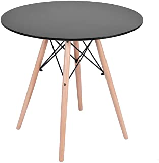 ErYao Shipped from USA, Kitchen Dining Table Round Coffee Table, Sofa End Table for Living Room Side Table, Modern Furniture Decor Side Table for Living Room Balcony Home and Office