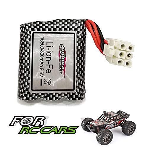 VATOS Batteria Ricaricabile Li-on 9,6V 800mAh per Auto con Telecomando 1/12 2WD 9120