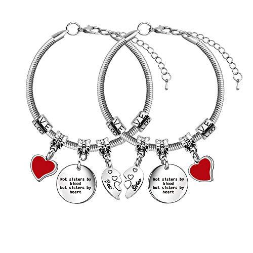 Set di 2 braccialetti da donna per migliore amica.