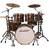 Sawtooth Command Series 7-Piece Drum Set Shell Pack, Red Streak
