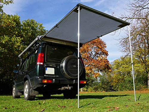 Prime Tech Markise 150x200x210 cm zum Autodachzelt in grau