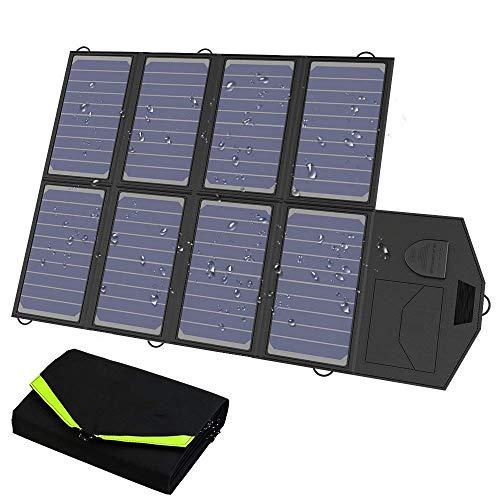 LIAOYUN Panel Solar monocristalino de 60 W, para Cargar una batería de 12 V en una Autocaravana, Caravana, Autocaravana, o Sistemas de energía Solar Fuera de la Red/de Respaldo LIAOYUN