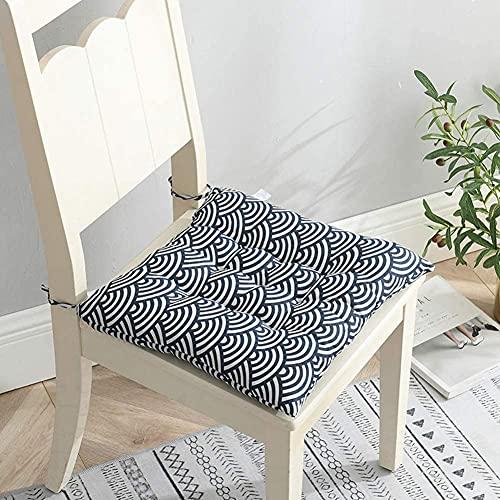BesBet - Set di 4 o 2 cuscini per sedie da 40 x 40 cm, in cotone e lino, con laccetti per sedia da pranzo, per cucina, soggiorno, patio, giardino, per interni ed esterni, 1,2 pezzi, colore: grigio