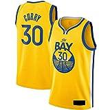 DFGTR Curry #30 Personalizado Nueva Jersey 2020/21 Stephen Camiseta de baloncesto Golden State Warriors Reducir el sudor del baloncesto Jersey - Oro