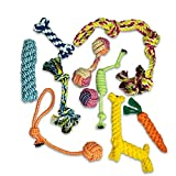 Hundespielzeug Welpenspielzeug 10er Set, Welpen Hunde Kauspielzeug Erstausstattung Baumwollknoten Spielset Seil Interaktives Hunde Spielzeug für Kleine Mittlere und große Hunde für Zahnreinigung