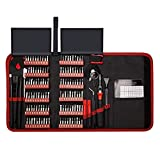 ZXQC 140 En 1 Destornillador De Destornillador Conjunto De bits De Precisión Torx Magnetic Torx Hex bits Destornilladores MultiTools Reparación De Teléfonos Herramientas De Mano Kit (Color : Red)