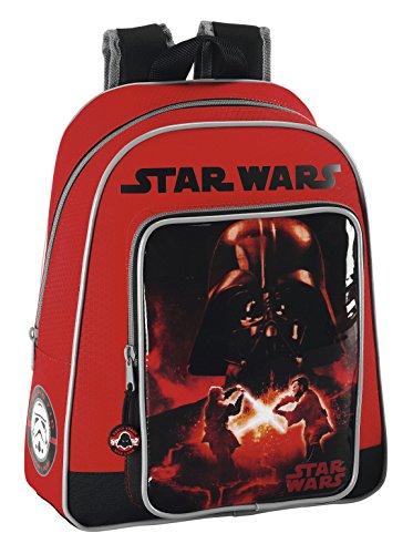 Star Wars Safta 611401006 Sac à dos pour enfant adaptable sur poussette 28 x 34 x 10 cm