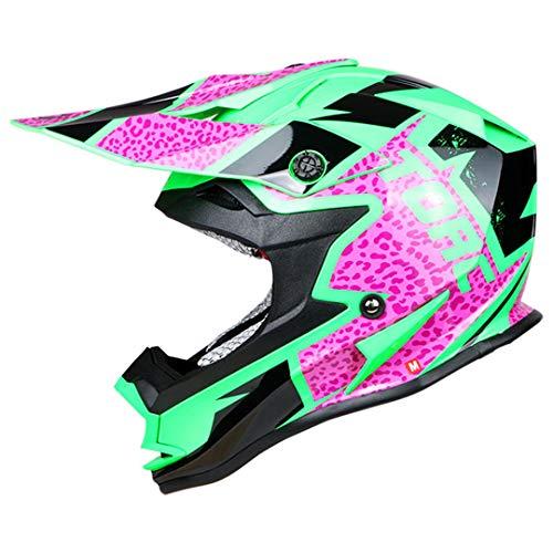 Off Road Helm Erwachsener Moto Helm Dirty Bike Racing Cross Motocross Helme Purple Trippy M