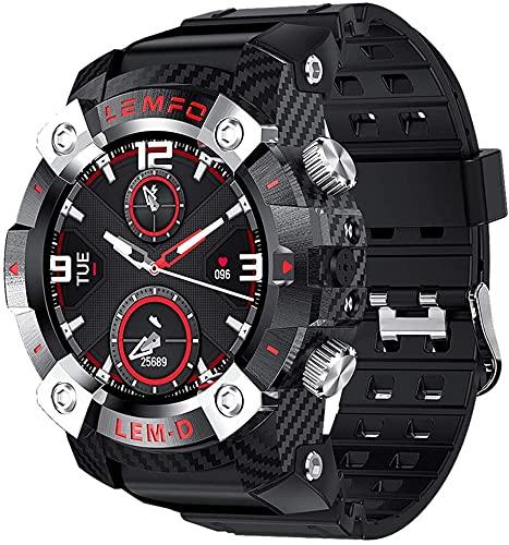 X&Z-XAOY Reloj Inteligente Bluetooth 5.0 Reloj Fitness Tracker para Hombre con Auriculares Inalámbricos Reloj Inteligente/Pulsera/Reloj De Pulsera 2 En 1 Tiempo De Espera Prolongado