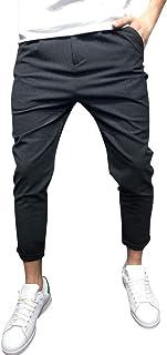 a0111bea1f4 Naladoo Mens Sweatpants Pockets Ankle-Length Pencil Pants Casual Jogger  Trousers