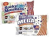 Juego de degustación de malvaviscos de las Montañas Rocosas Fruity & Mega, coloridos dulces tradicionales americanos para asar en una fogata, a la parrilla o al horno, sabor a fruta, (1x300g, 1x340g)