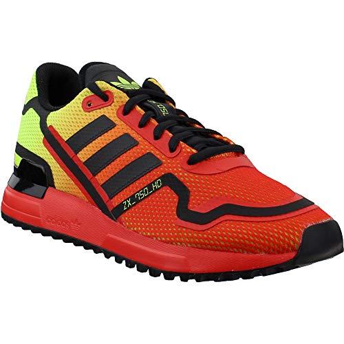 adidas Mens Originals Zx 750 Zapatos casuales para hombre Fv8489, rojo (Glory Red/Black/Shock Yellow), 44 EU