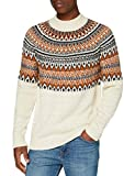 Marca Amazon - find. Jersey con Cuello Redondo Hombre, Beige (Ecru Twist), L, Label: L