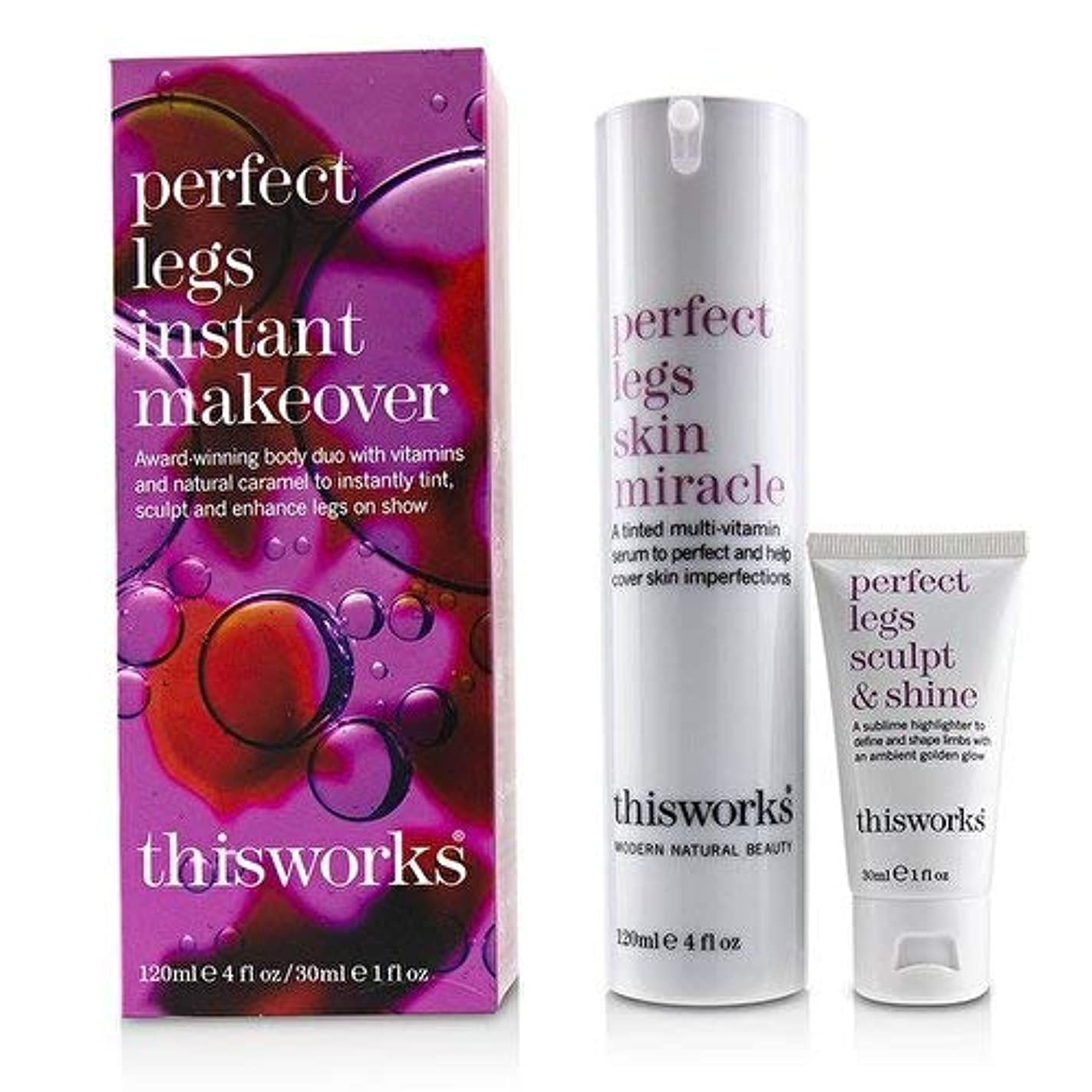 前提条件ブッシュ成人期ThisWorks Perfect Legs Instant Makeover Kit: Perfect Legs Skin Miracle Serum 120ml + Perfect Legs Sculpt & Shine 30ml 2pcs並行輸入品