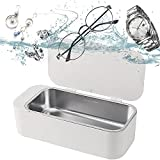 Ultrasonic Cleaner, Ultrasonic Jewelry Cleaner, Personal Professional 42kHz with 3 Minutes Cleaning Silver/Jewelry/Eyeglasses/Rings/Watches/Necklaces/Dental Coins/Razors/Brushes