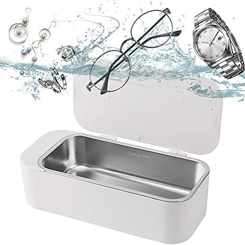 超音波洗浄機 眼鏡洗浄機 小型家用超音波洗浄器 超音波クリーナー 450 mlの容 42,000Hz 強力振動 可能洗浄メガネ 貴金属 アクセサリー シェーバー IGOKOTI