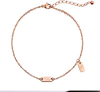 CXQ Personality Fashion Temperament Anklet Female Couple Rose Gold Foot Ring Jewelry Gift