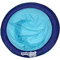 SwimWays Spring Papasan Mesh Float for Pool or Lake (Dark Blue/Light Blue)