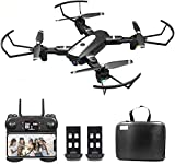 B-Qtech Drone with Camera, 4K HD Foldable WiFi RC Quadcopter for Adults