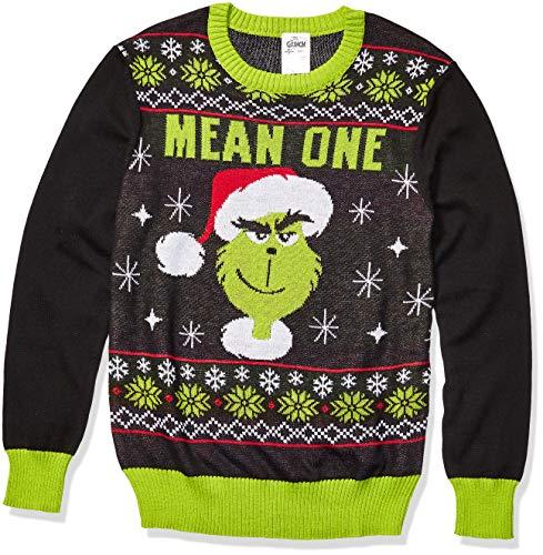 Universal Men's Ugly Christmas Sweater, Black, Large