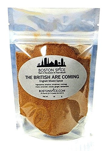Boston Spice The British Are Coming Handmade English Mixed Spice Pudding Blend Baking Cakes Apple Pumpkin Pies Donuts Pastry Desserts Fudge Brownies Add To Protein Shakes wt 1oz/29g 1/4 Cup Spice