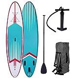 BRAST Stand up Paddle Gonflable Adulte Rigide Pro Turquoise 10'6 20psi 120kg 15cm épaisseur Drop Stitch Kit Complet – Planche Gonflable Sup 320x76x15cm