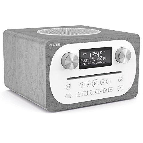 Pure C-D4 Sistema musicale tutto in uno (DAB/DAB+ ed FM, CD-Player, Bluetooth, AUX) Grigio legno