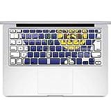 igsticker MacBook Air 13inch 2010 ~ 2017 専用 キーボード用スキンシール キートップ ステッカー A1466 A1369 Apple マックブック エア ノートパソコン アクセサリー 保護 015834 月見 十五夜 うさぎ