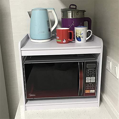 Estante de Horno para microondas Microondas anaquel de soporte de plástico soporte de madera Placa de cocina en rack Inicio de escritorio Arrocera Estante de almacenamiento Contador de cocina del orga