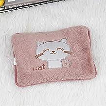 Explosieveilige warmwaterfles opladen cartoon kat warm water fles water pluche handen hand warm handtas (kleur: b) Detazhi...