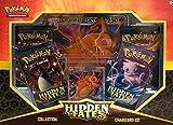 Pokemon Sun & Moon 11.5 Hidden Fates Assorted Gx Box- Charizard-GX, Raichu-GX, or Gyarado-GX