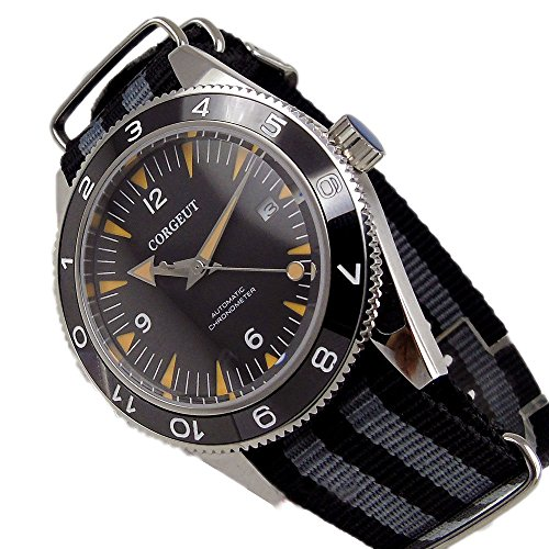 41 mm 21 Jewels Automatic orologio zaffiro Quadrante nero sandwich