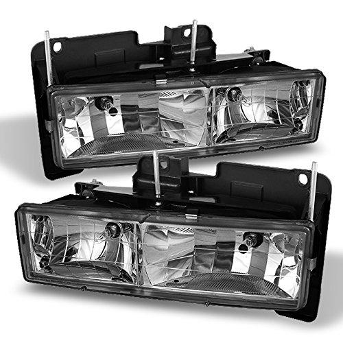 For Chevy C/K 1500/2500/3500 Tahoe Suburban Silverado Full Size C10 Headlights LH/RH Chrome Headlight