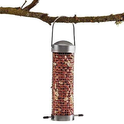 Supa Wild Bird Feeder Domed Stainless Steel Nut Seed Holder by Happy Beaks from Happy Beaks