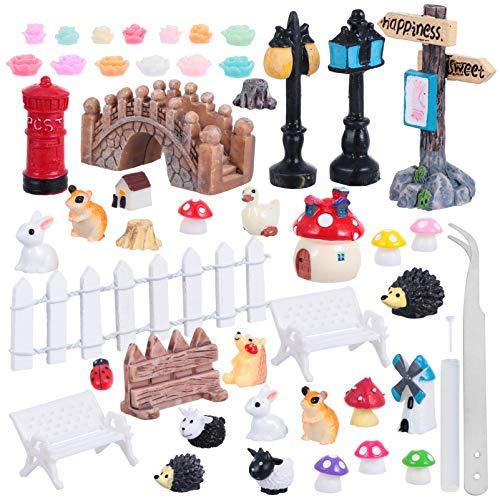 YARNOW Weihnachtsgarten Miniatur DIY Harz Garten Figuren Kind Weihnachten Mini Mikro Landschaft Spielzeug Tischplatte Sukkulente Rnament für Kind Indoor Weihnachtsfeier Zugunsten