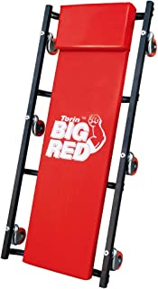 """BIG RED TR6500 Torin Rolling Garage/Shop Creeper: 36"""" Padded Mechanic Cart with Headrest and 6..."""