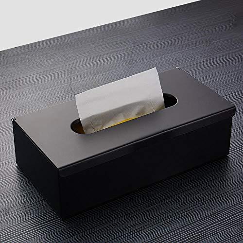 HtapsG Toilettenpapierhalter Toilettenpapierhalter An Der WandPapierhalter Wasserdicht Tissue Box Schwarz Serviettenhalter BadezimmerRetro Metall Regal-Schwarz
