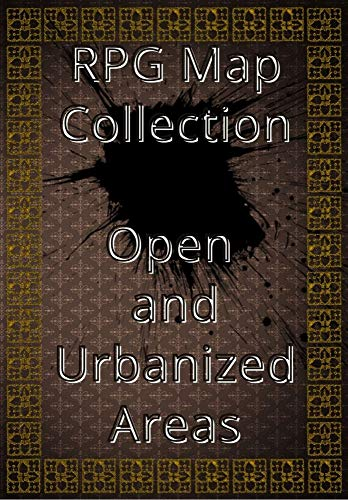RPG Map Collection Open and Urbanized Areas: Collection of Maps for Role-Playing Games. For gamers and game masters (English Edition)