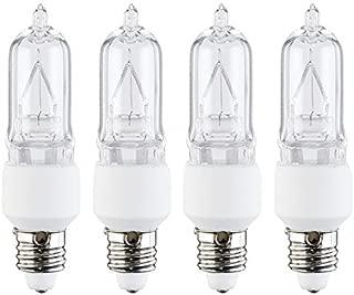 4 Pcs of 50 Watt E11 Base Mini Candelabra, Halogen Light Bulb, 130 Volts, 130V 50W