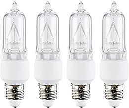 4 Pcs of 50 Watt E11 Base Mini Candelabra Halogen Light Bulb 130V 50W 130 Volts