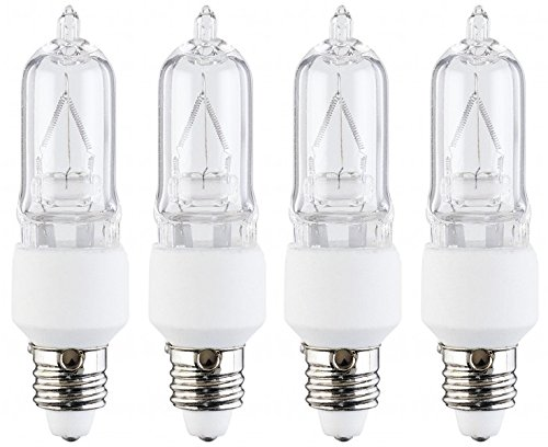 4 Pcs of 40 Watt KX40CLE12 Candelabra Base, KX20003M Krypton/Xenon T3 Light Bulb, 120 Volts, 120V 40W