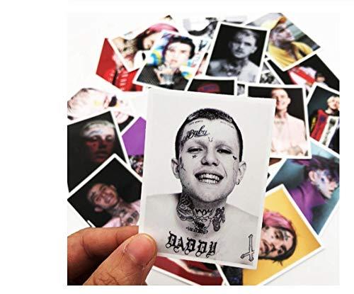 Votgl 25 stuks van de beroemde zangers van de Amerikaanse Rocks Lil Peep Graffiti-stickers DIY stickers voor bagage koffer draagbaar Deco LD