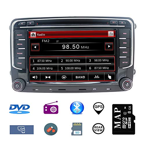 Stereo Home 7 Zoll 2 Din Autoradio Naviceiver für VW mit DVD CD GPS USB SD CANBUS FM AM RDS Video Lenkrad Bedienung Bluetooth Wince6.0 SWC 8GB Kart